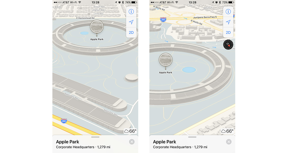 Apple Maps Adds 3D View for Apple Park Campus
