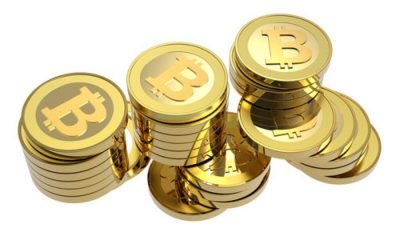 Concept image of Bitcoins, related to Kin cryptocurrency