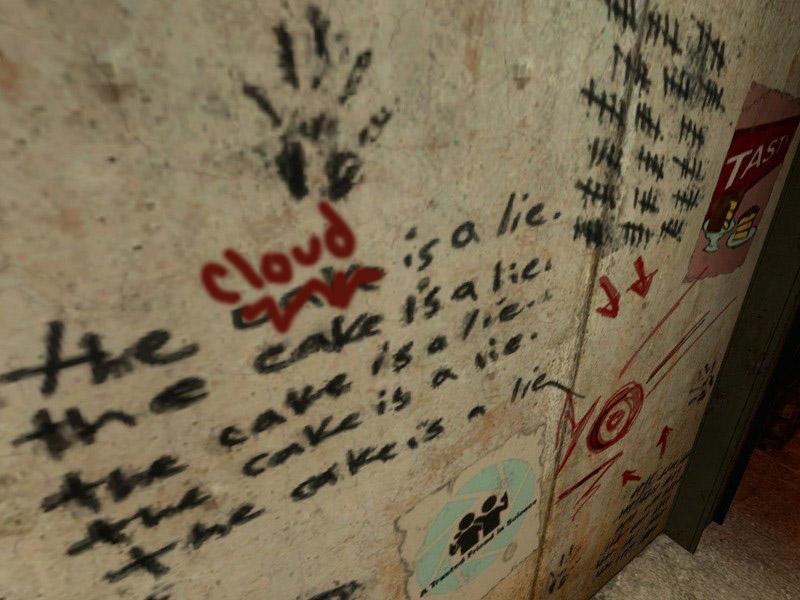 The Cloud Is a Lie Graffiti