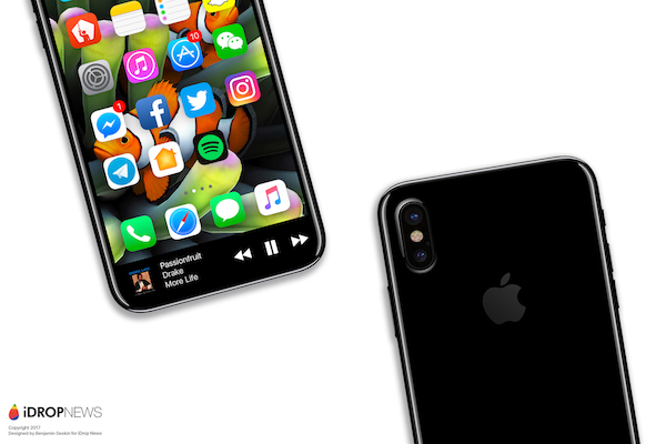 iPhone 8 Function Area and Vertical Camera