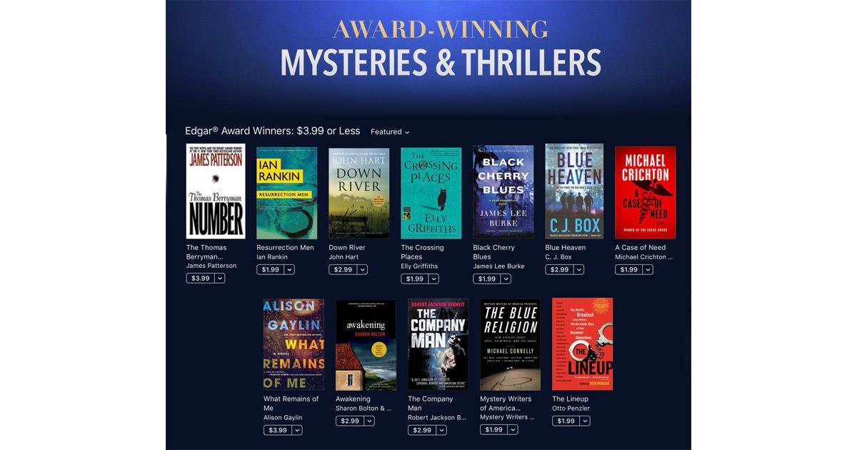iBooks Offers 30 Edgar Award Winning Mysteries for $3.99 or Less