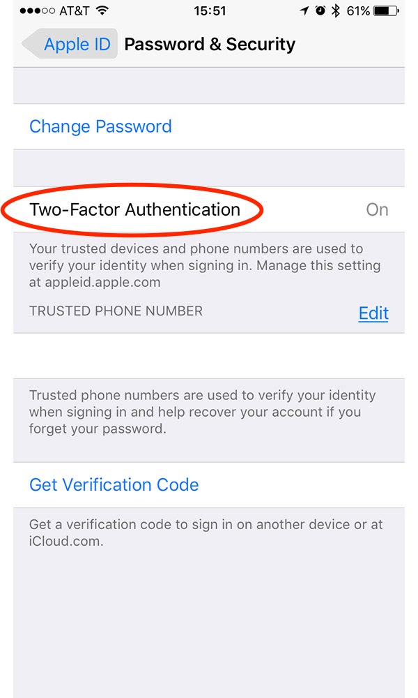 Enable two-factor authentication to improve your iCloud and Apple ID security
