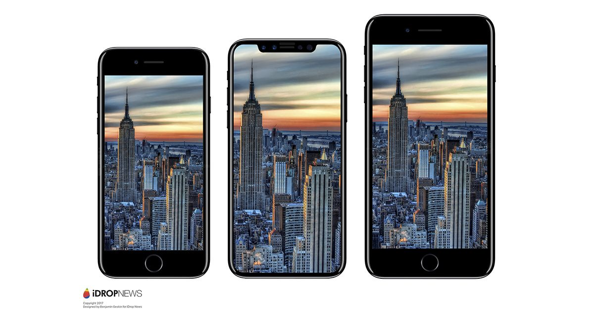 iPhone 8 size comparison with iPhone 7 and iPhone 7 Plus