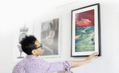 Display digital art and hang Meural on the wall