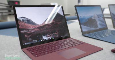 Microsoft Surface Laptop Bloomberg Screenshot