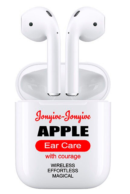 This Jonyive & Jonyive Apple Ear Care with courage sticker was just $3.50 at etsy.com.