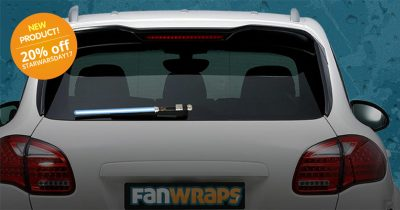 Star Wars light saber rear window wiper blade