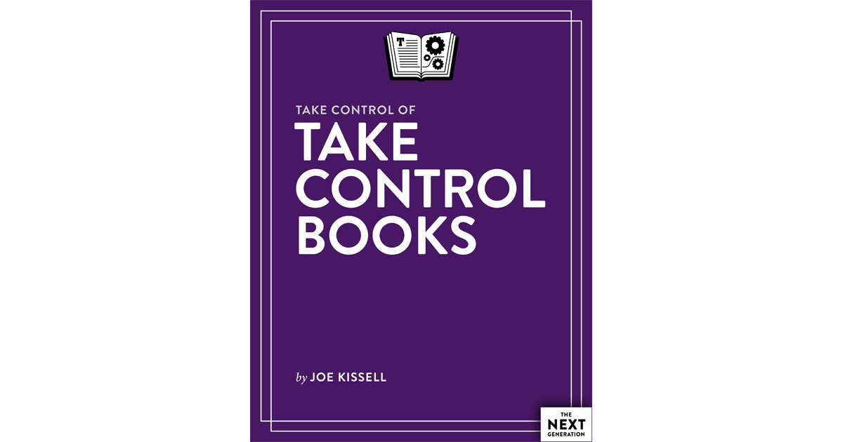 TidBits Sells Take Control Books to Author Joe Kissell