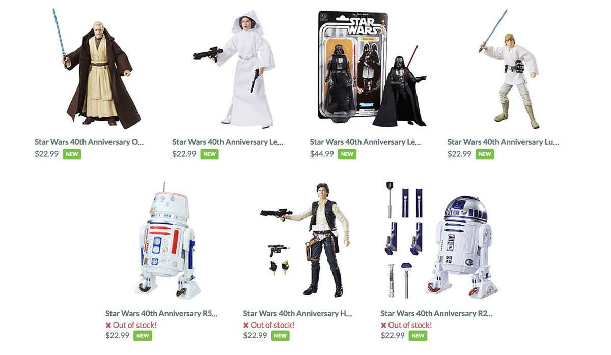 40th Anniversary ACtion Figures from ThinkGeek