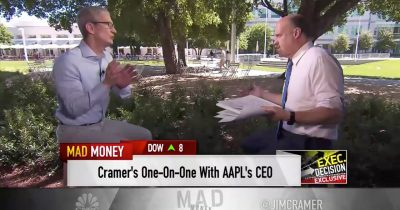 Tim Cook interview with Jim Cramer