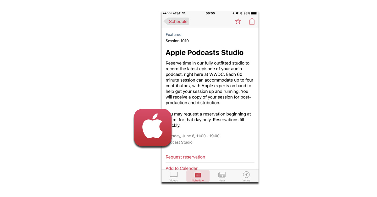 Apple offering a professional podcast recording studio at Worldwide Developer Conference 2017