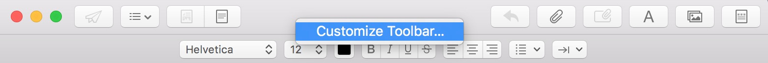 Use Mail's Customize Toolbar option to add the Include Attachments button