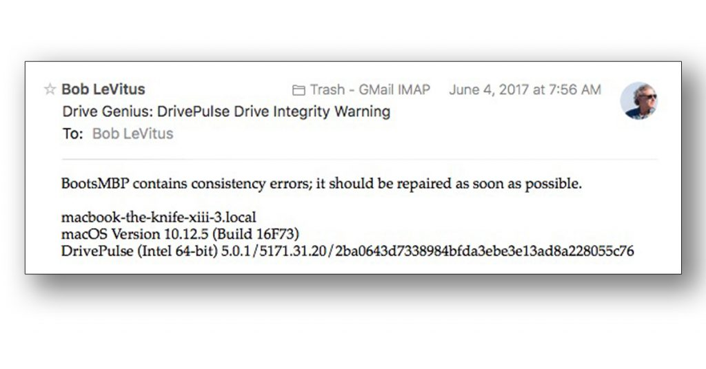 Drive Genius warns me of file corruption before it causes problems.