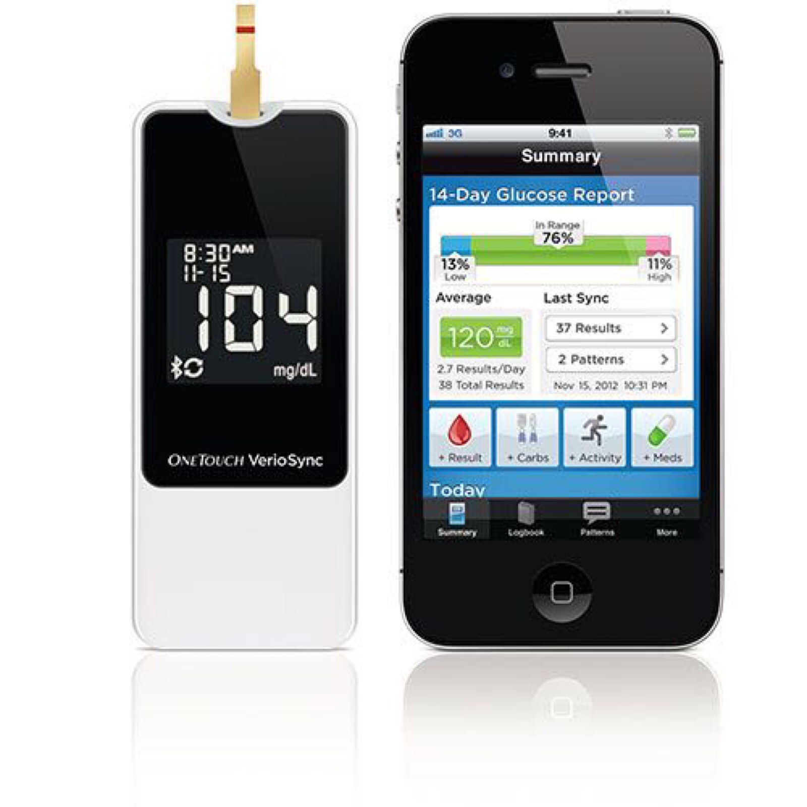 Concept image of Apple glucose monitor.