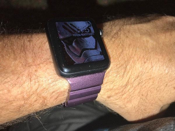 JUUK Ligero Apple Watch band on the author's wrist