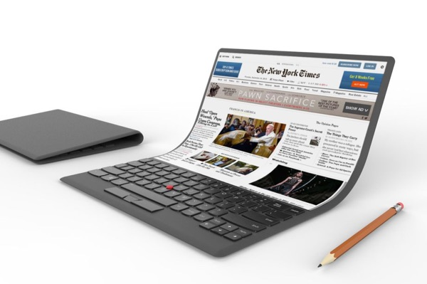 A notebook computer concept from Lenovo.