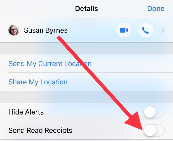 Individualized read receipts in Messages app- hidden iOS 10features