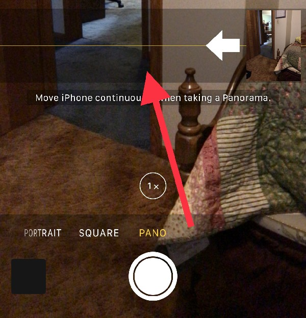Reverse panorama direction in the Camera app - hidden iOS 10 features