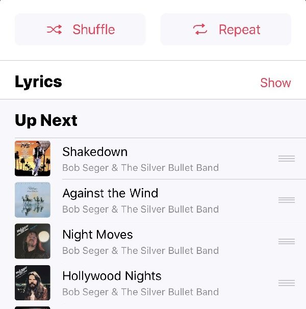 Shuffle and Repeat - hidden iOS 10 features