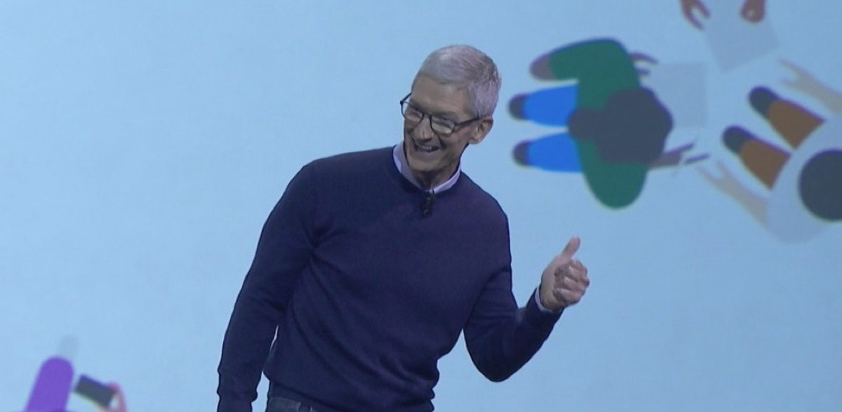 Tim Cook at WWDC 2017 keynote.