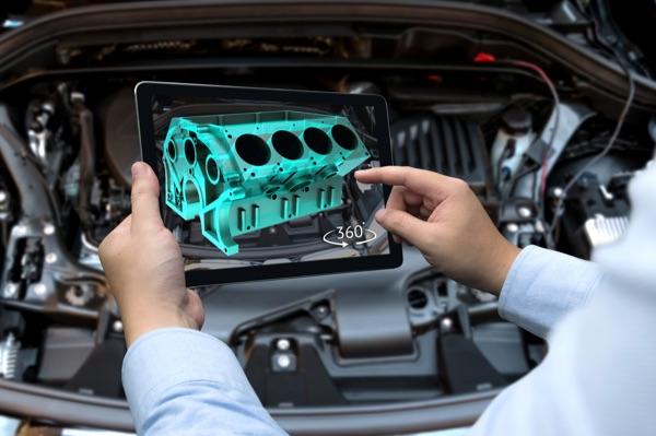 AR demo of engine analysis.