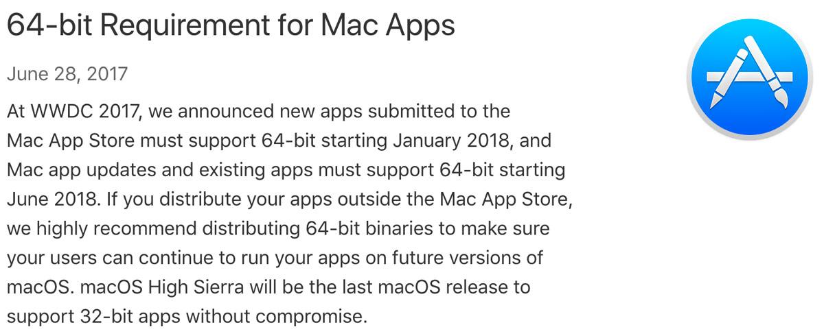apple 64 bit mac