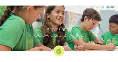 Apple Camp and Today at Apple Kids Hour registration now open