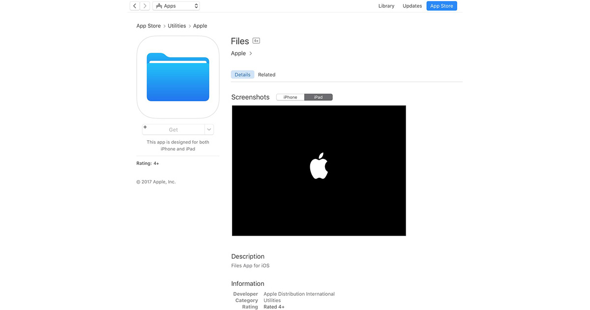 Apple Files App for iOS 11 Hints at Mac-like Document
