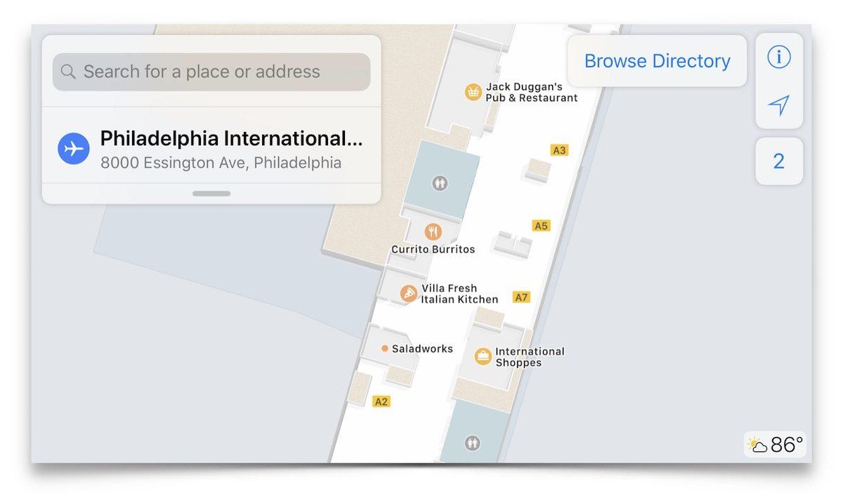 apple indoor maps airport