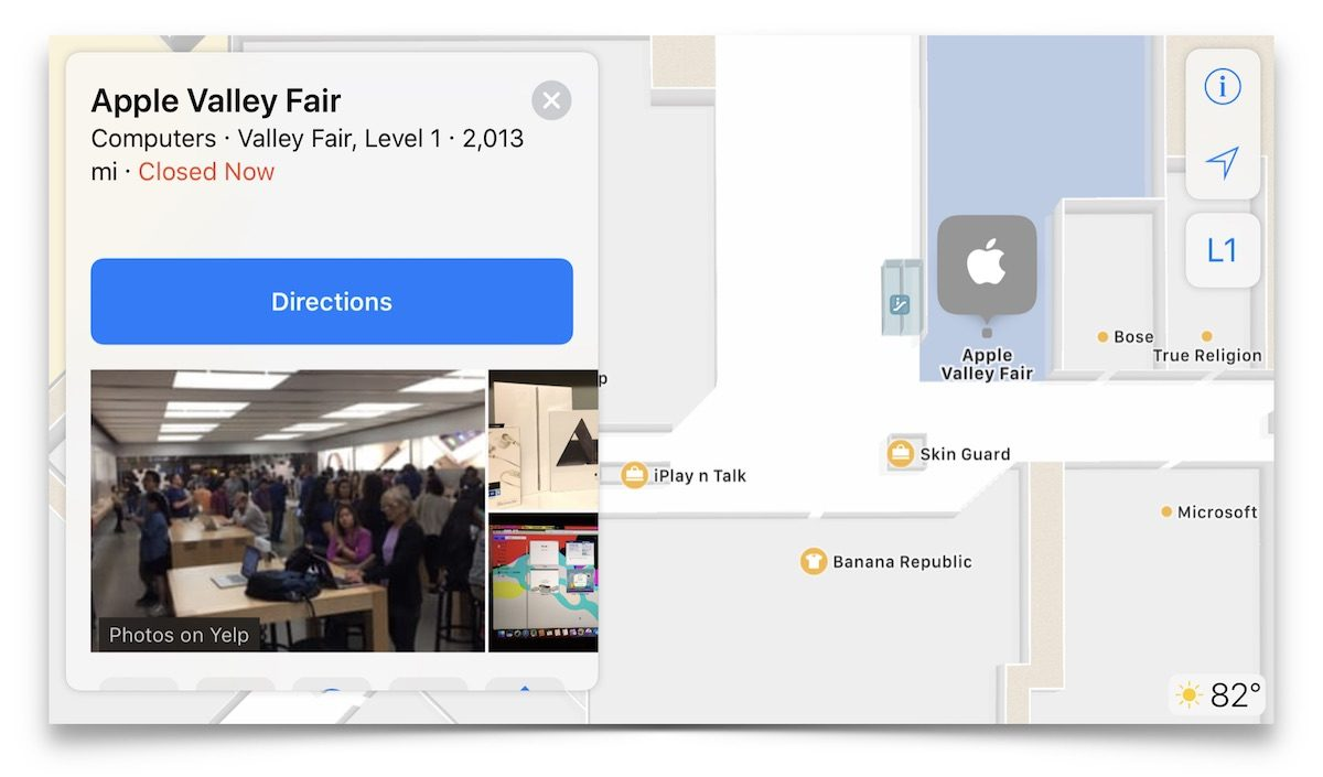 apple indoor maps mall