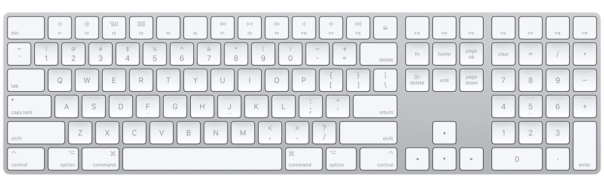 apple keyboard numeric keypad