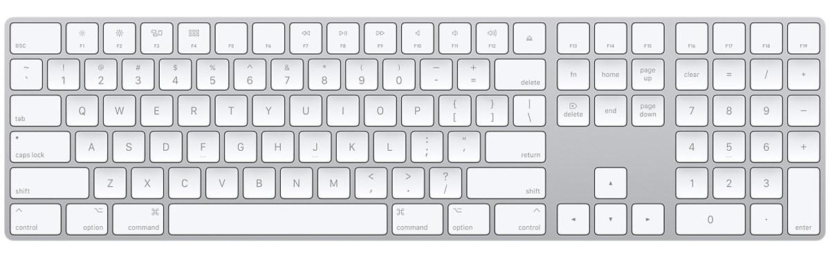 apple keyboard numeric keypad
