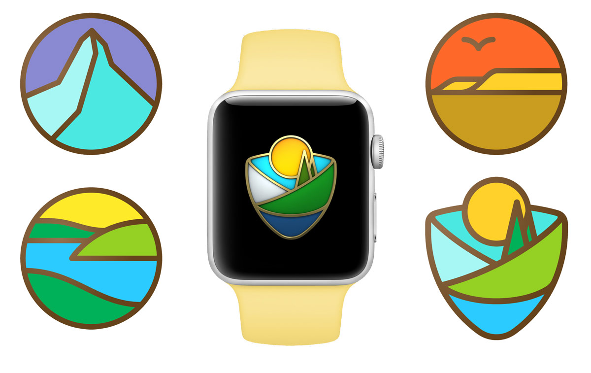 apple national parks watch stickers