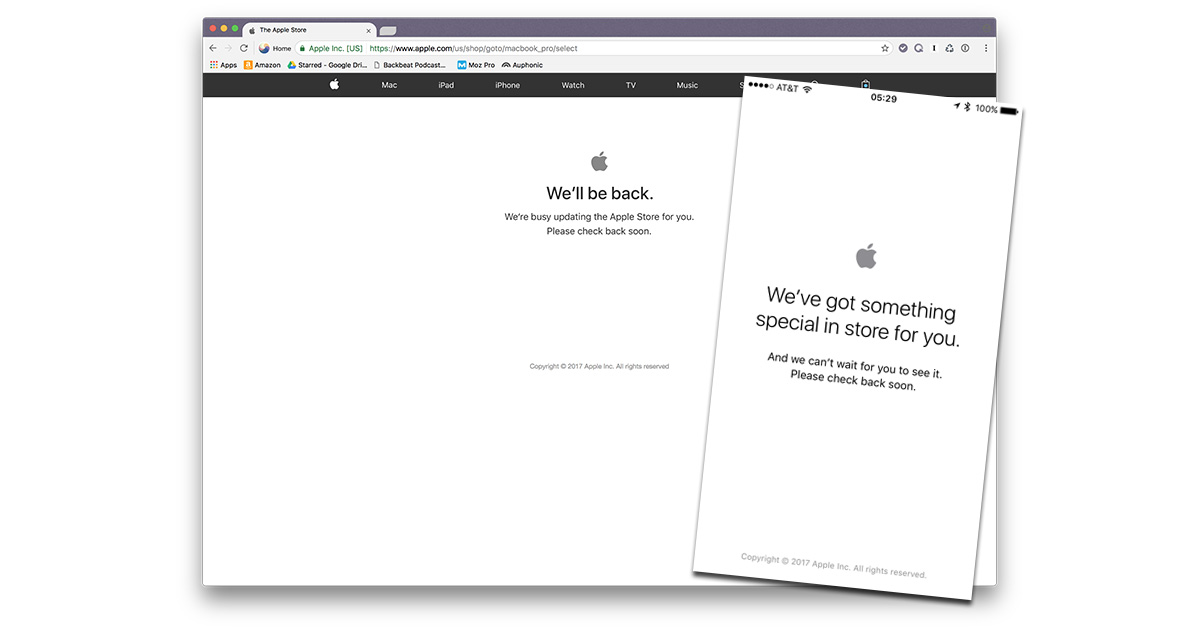 Apple's web store offline for new iPhone announcements