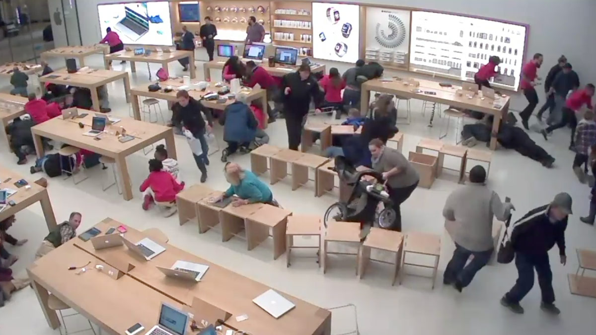 Surveillance Video Shows Chaos Inside Apple Store During Last Year's Crossgates Mall Shooting