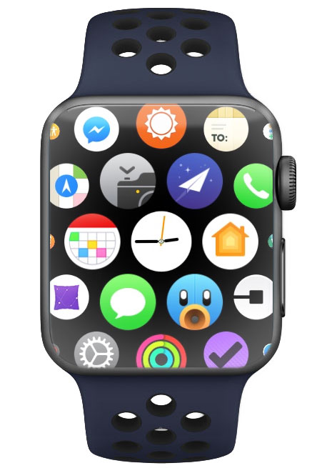 Force Touch to change from Apple Watch honeycomb app grid
