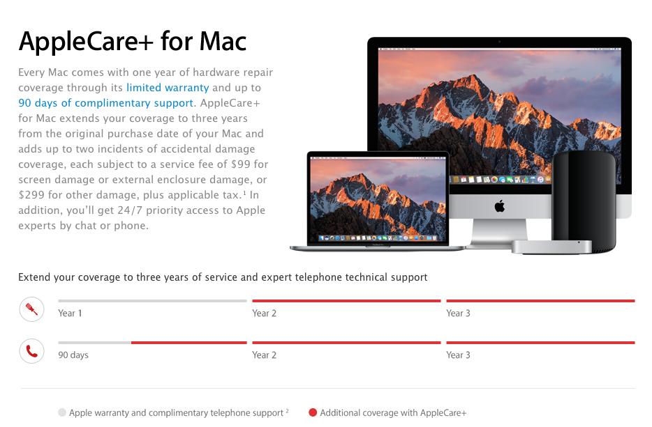applecare plus for mac