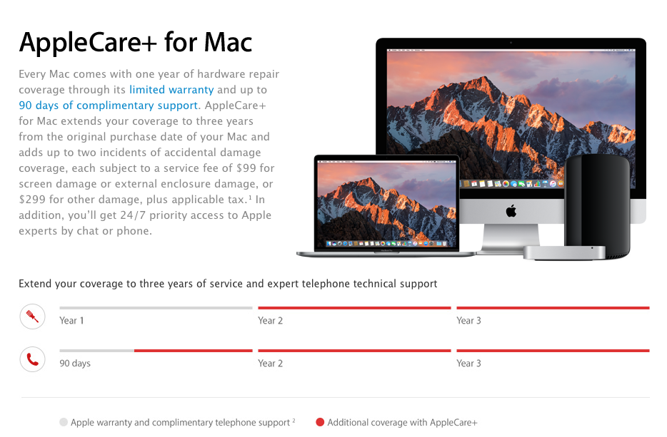 applecare plus for mac
