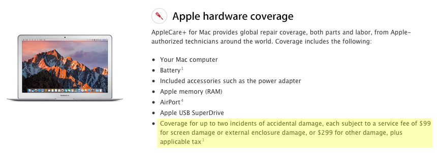 applecare plus mac coverage