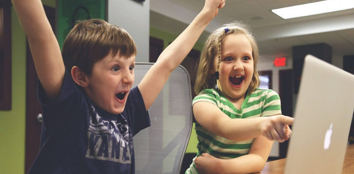 TMO reenactment of children cheering because they were able to disable video autoplay