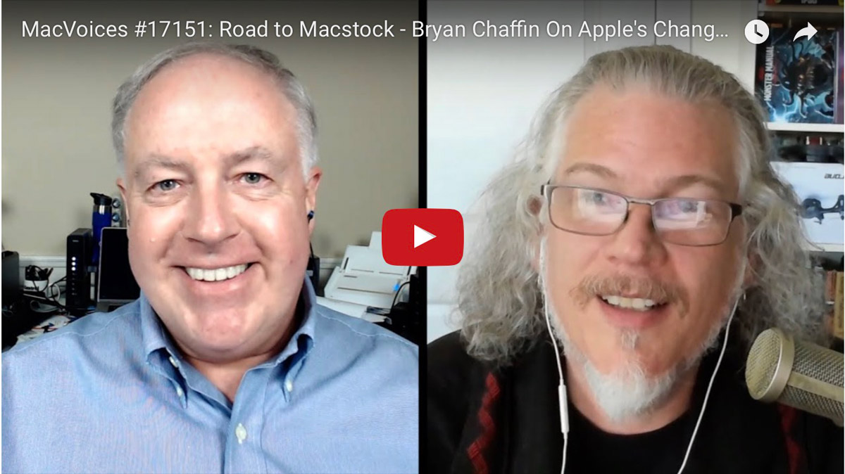 Chuck Joiner interviews Bryan Chaffin on the Road to Macstock