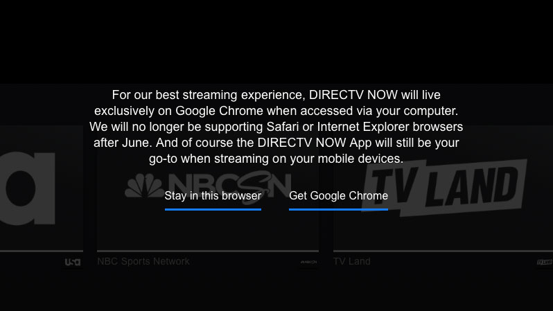 directv now safari support