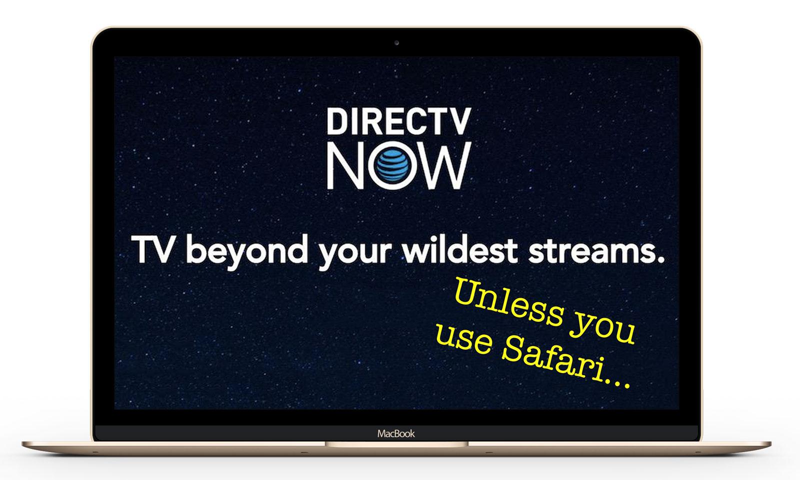 directv now safari