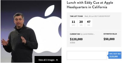 Eddy Cue Charity Buzz Auction