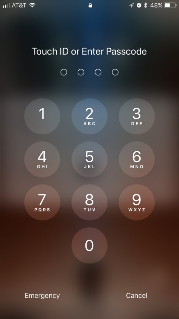 iOS 11 PIN Keypad