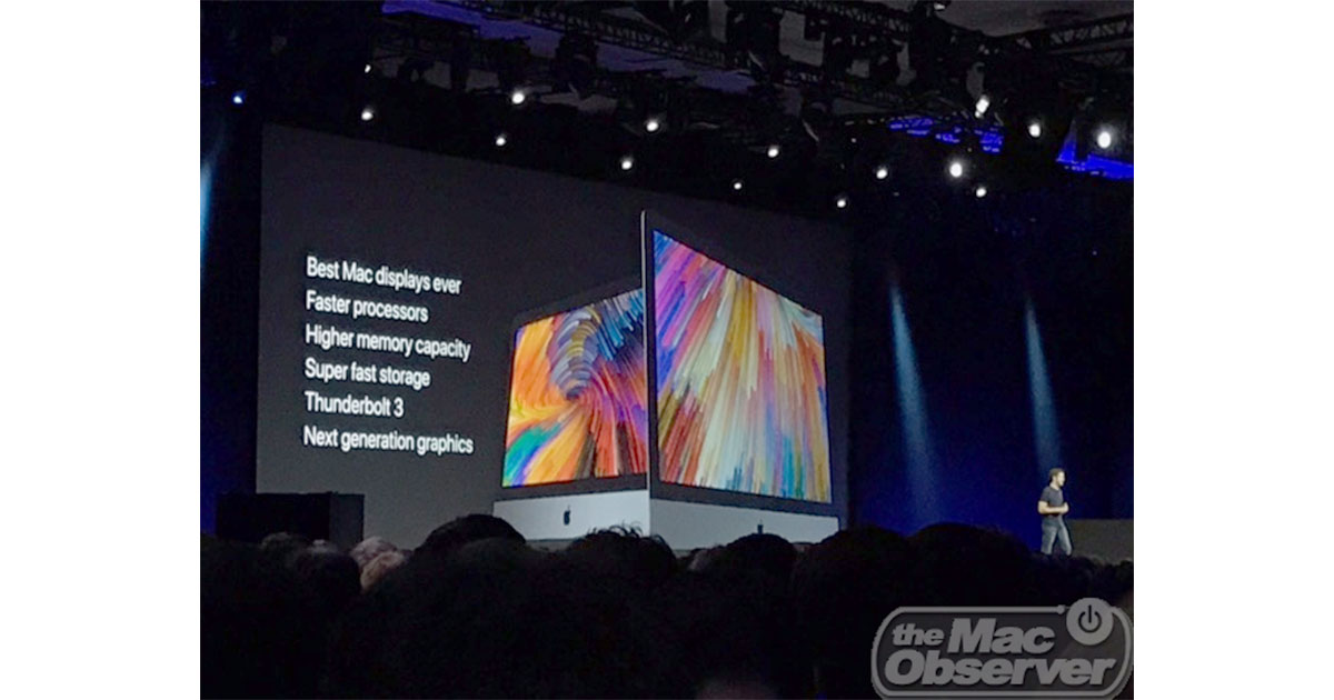 Apple shows off Kaby Lake processor iMacs at Worldwide Developer Conference 2017