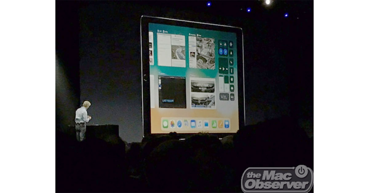 iOS 11 includes iPad-specific features at WWDC 2017