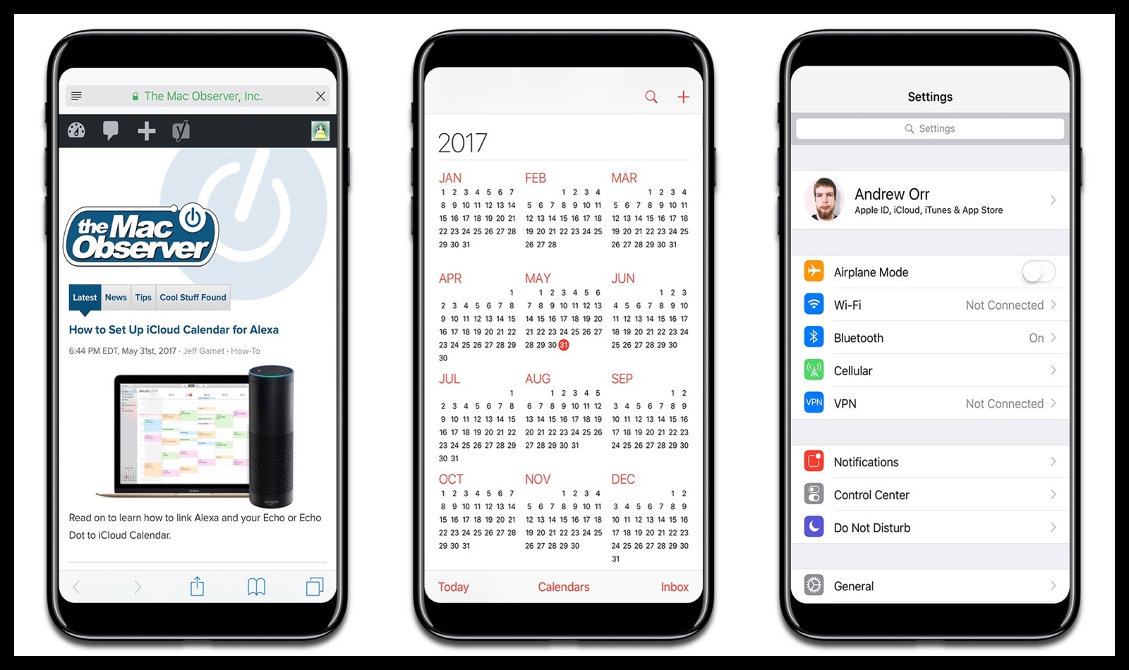 Image of how full screen apps could look like on an iPhone 8.
