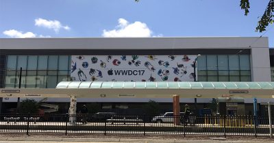 Worldwide Developer Conference 2017 banners appearing on McEnery Convention Center ahead of next week's event