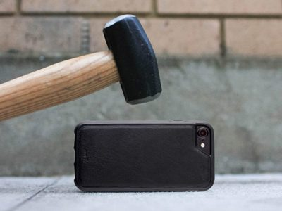 Mous Limitless Ultra-Slim iPhone Cases with Airo Shock Protection and a sledge hammer